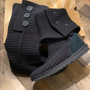 UGG Classic Cardy Black Boots